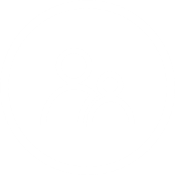 White Circle Icon with two people in the middle