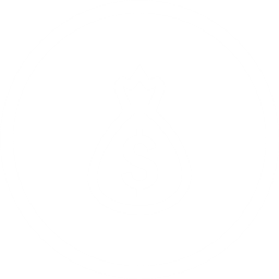 White Circle Icon with bag with $ sign in the middle