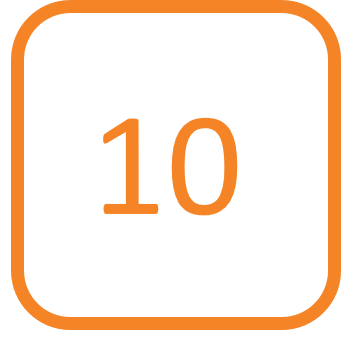 #10 graphic in orange
